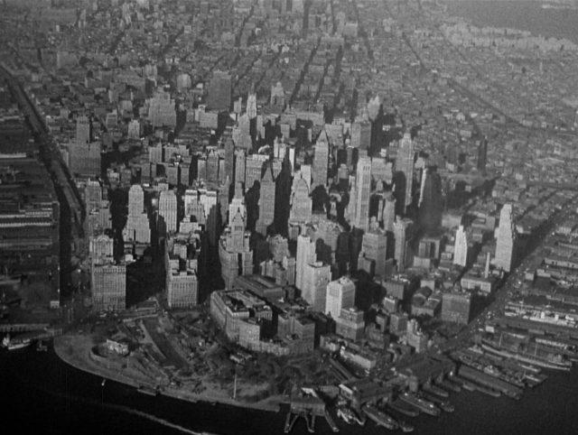 Kameraanflug auf Manhattan.