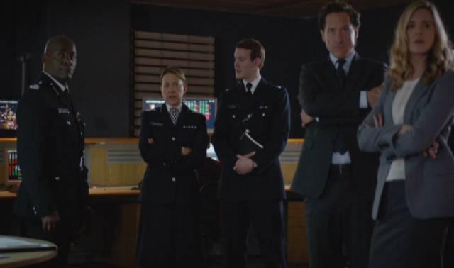 das Führungspersonal der Londoner Polizei im Kontrollraum während der Riots
