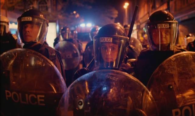 die Territorial Support Group im Einsatz bei den Riots