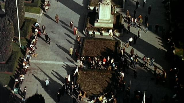 der Union Square im Nordosten von San Francisco aus der Vogelperspektive