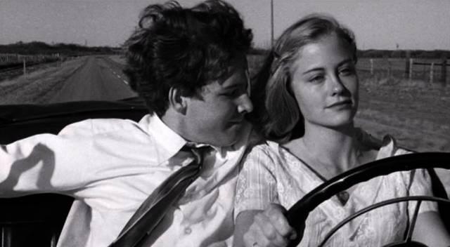 Timothy Bottoms und Cybill Shepherd unterwegs im Auto, Copyright: Columbia