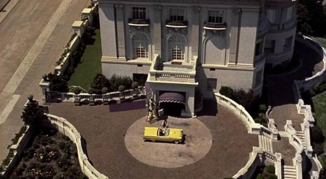 die Spreckels-Vila in San Francisco aus der filmischen Vogelperspektive