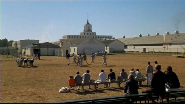 der Trainingsplatz auf dem Gefängnisgelände