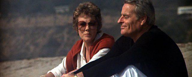 Samantha (Julie Andrews) und Hugh (Robert Webber) sitzen am Strand und unterhalten sich