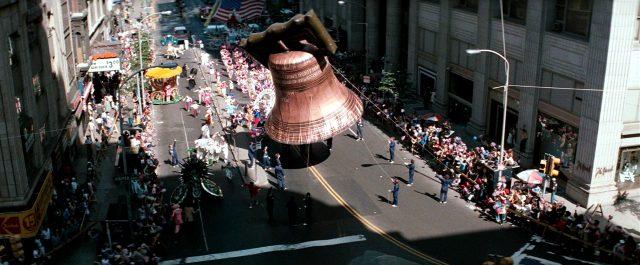 Festtagsparade auf einer Straße in Philadelphia