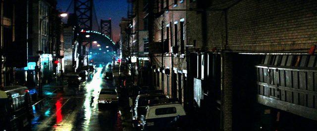 Nachtaufnahme einer Straße in Philadelphia