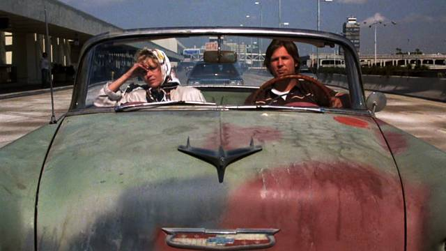 Jane Fonda und Jeff Bridges als Alex Sternbergen und Turner Kendall unterwegs im Chevrolet Bel Air, Copyright: Warner Bros.