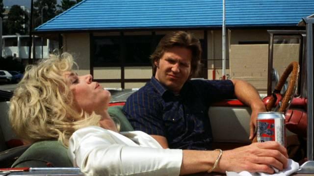 Jane Fonda und Jeff Bridges als Alex Sternbergen und Turner Kendall bei einer Getränkepause im Chevrolet Bel Air, Copyright: Warner Bros.