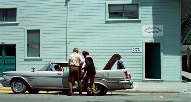 junge Boxer steigen in eine 1950er-Jahre-Limousine ein, Copyright: Columbia Pictures