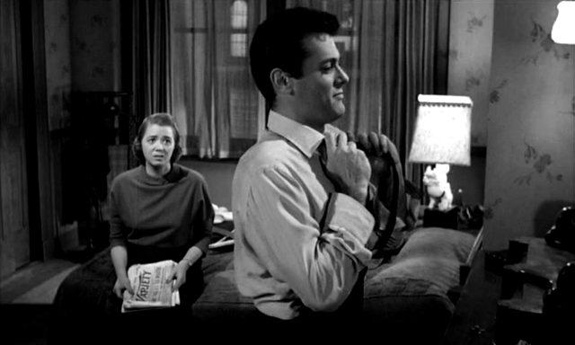 Jeff Donnell und Tony Curtis als Sally und Sidney im Schlafzimmer, Copyright: MGM