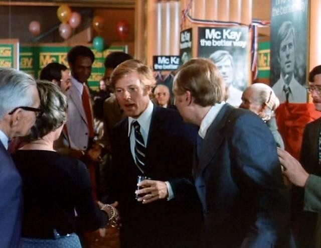 Robert Redford als Bill McKay auf einer Wahlkampfveranstaltung
