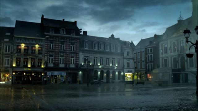 Der zentrale Platz der fiktiven französischen Kleinstadt Chalons Du Bois