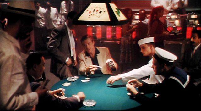 Jack Weil (Robert Redford) am Pokertisch, u.a. mit zwei Matrosen