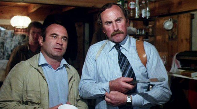 "Harold Shand (Bob Hoskins) und sein Handlanger ""Razors"" (P.H. Moriarty), Copyright: HandMade Films"