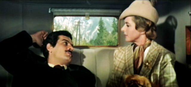 Davich (Omar Sharif) und Gerda Millett (Ingrid Bergman) im Fond des Rolls-Royce, Copyright: MGM