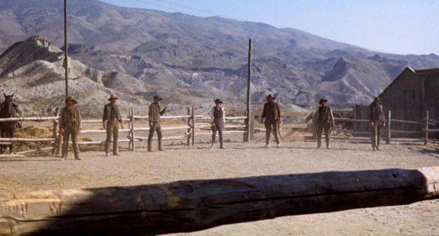 die Clanton-Gang steht am O.K. Corral