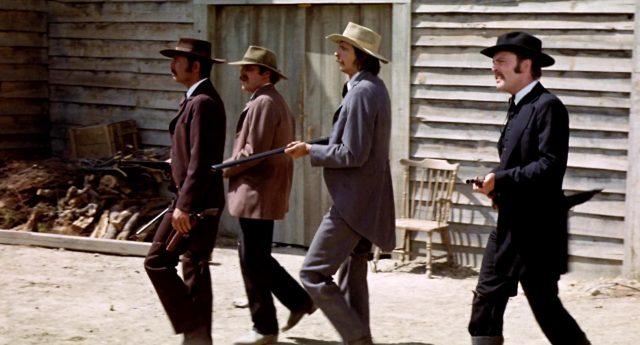 die Earp-Brüder und Holliday im bewaffneten Anmarsch auf den O.K. Corral