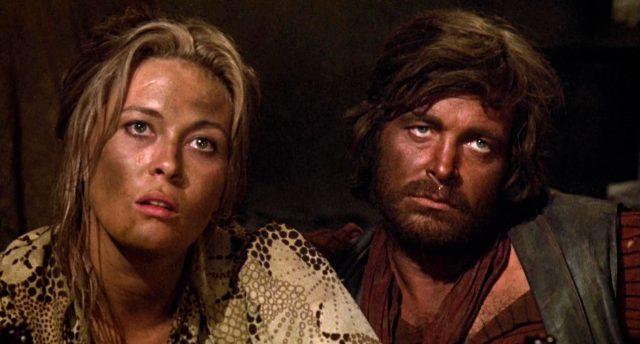 Katie Elder (gespielt von Faye Dunaway) und Ike Clanton (gespielt von Michael Witney)