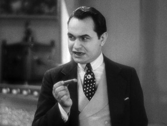 Caesar Enrico Bandello im Dreiteiler mit Zigarre (gespielt von Edward G. Robinson).